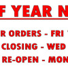 End of year notice 2017